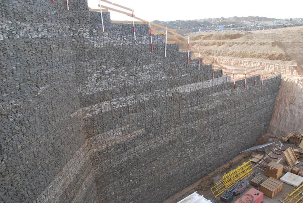 record hauteur mur gabion